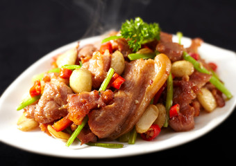 Delicious Chinese cuisine, fried pork
