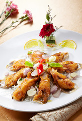 Delicious Chinese cuisine, fried fish pieces