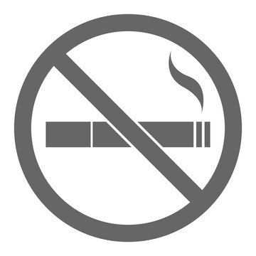 NO SMOKING sign. Vector.