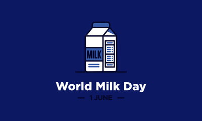 World Milk Day 1 June Social Media Poster Design