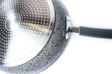a frying pan on a white background