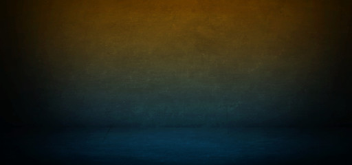 dark blue mixed orange horizontal studio background and showroom for presentation product