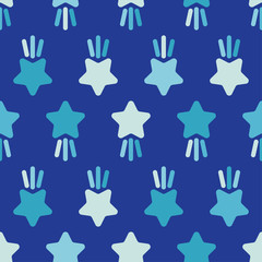 Seamless pattern with decorative stars. Star with rays. Simple design. Can be used for wallpaper, textile, invitation card, wrapping, web page background.