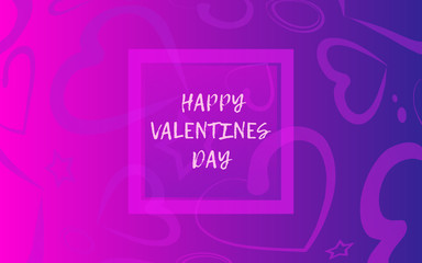 Valentine's Day background with  hearts. Love banner or greeting card. Place for text. Eps10 vector illustration