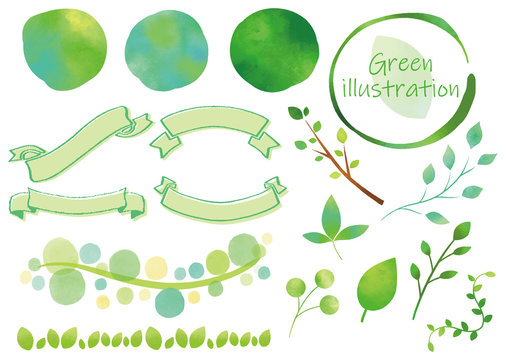 緑 装飾セット