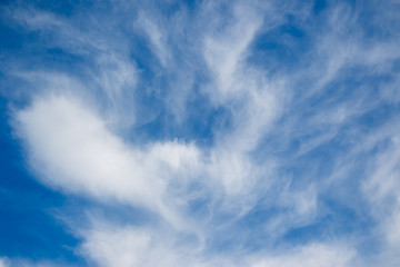 The vast blue sky and clouds sky background