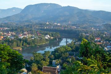 panoramic view of the Luang Prabang landscape