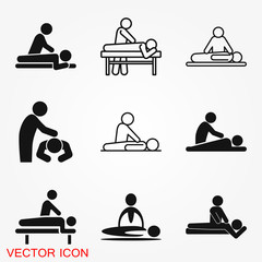 Massage Icon. spa vector logo, illustration, vector sign symbol for design