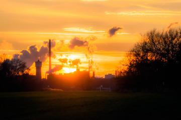 Sonnenuntergang im Chempark Darmagen