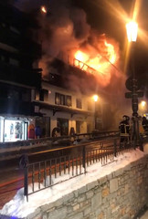 Firefighters battle flames at Courchevel ski resort