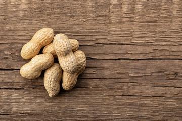 heap of peanuts in shell
