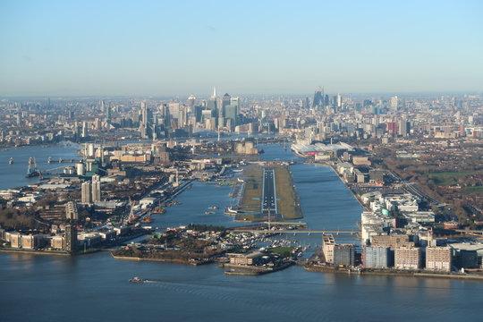 landing at london city airport