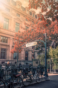 Metropolitain entrance in Paris