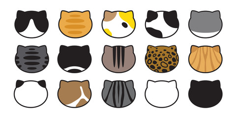 cat breed vector head kitten calico icon logo paw character cartoon illustration doodle symbol graphic