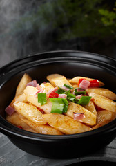 Delicious Chinese cuisine, yam pot