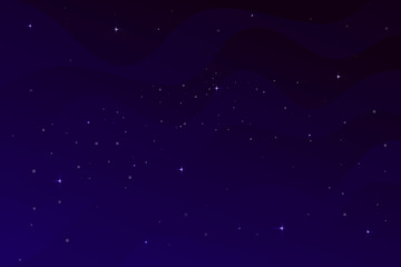 Space flat vector background, planets and stars. Space for your text.