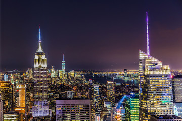 New York by night Wall mural