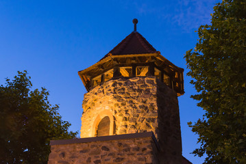 beleuchteter Burg-Turm