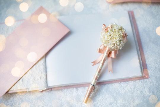 wedding guest book in wedding ceremony, wedding set up