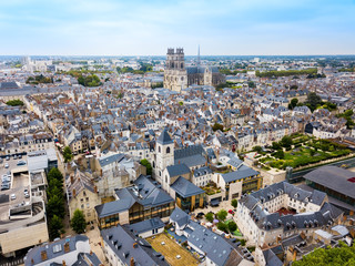 Orleans aerial panoramic view, France