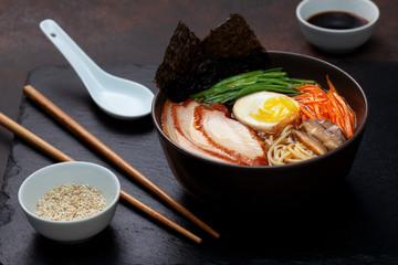 ramen soup with chicken
