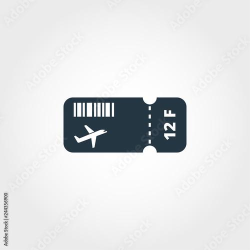 Airplane Ticket creative icon  Simple element illustration  Airplane
