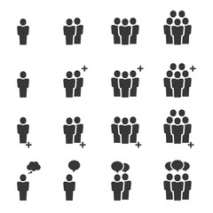 People Icons , Person work group Team Vector