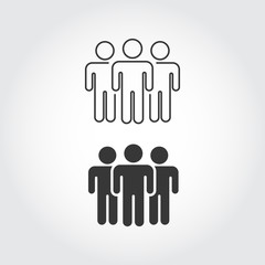 People Icon work group Team Vector