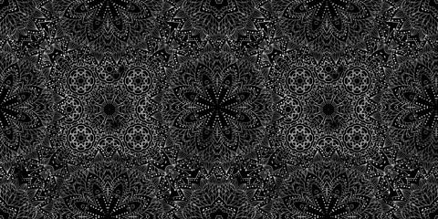 pattern mandala floral elements on dark background