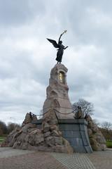 Tallinn. Monument to the battleship mermaid near Kadriorg Park