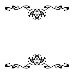 Empty decorative vintage  frame. Art Nouveau style ornamental border for your design