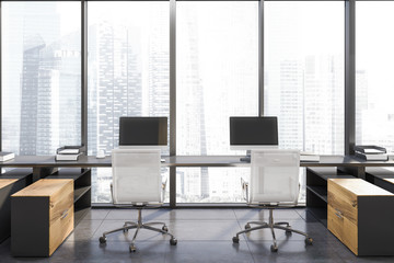Panoramic office workplace