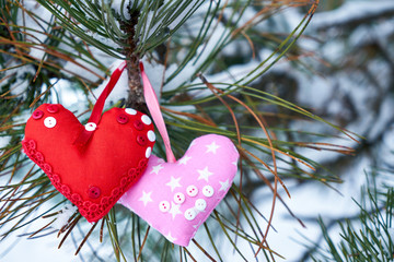 Image of soft toys. Handmade.