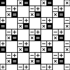 Calculator Icon Seamless Pattern, Calculator Keypad Sign