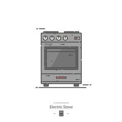 Electric stove - Line color icon