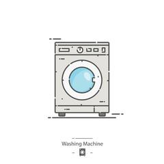 Washing machine - Line color icon