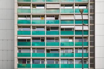 Gebäude Fassade mit Balkon Wohnhaus