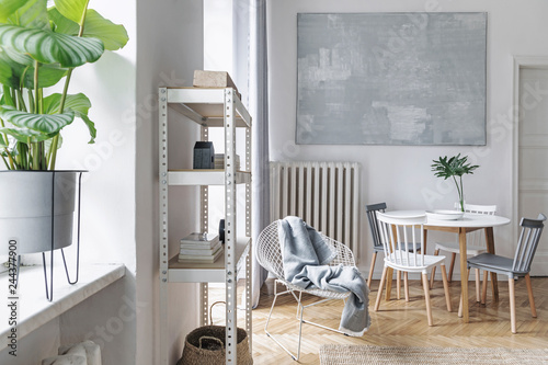 Modern Nordic Living Room With Design Furniture Family Table Plant