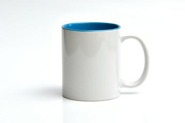 glazed white porcelain mug