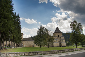 Vatra Moldovitei, Romania, Moldovita Monastery,September ,2017,defensive wall