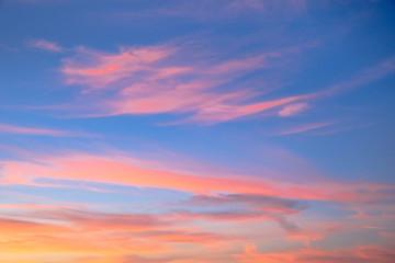 Wall Mural - Beautiful sunset background