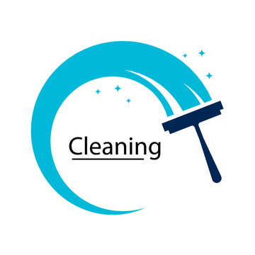 cleaning clean service logo icon