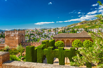 The famous Alhambra palace in Granada, Spain