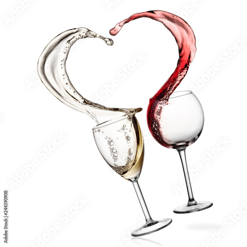 e729156e973d Red and white wine heart splash