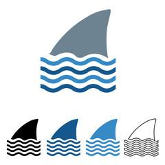 Icon-Shark Fin in the Ocean