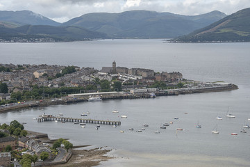Gourock from lyle hill