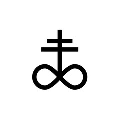 religion symbol, satanic church icon. Element of religion symbol illustration. Signs and symbols icon can be used for web, logo, mobile app, UI, UX