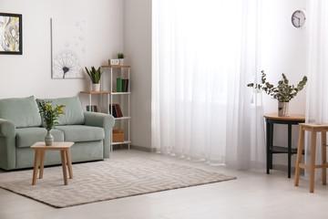 Beautiful interior of modern room Fototapete