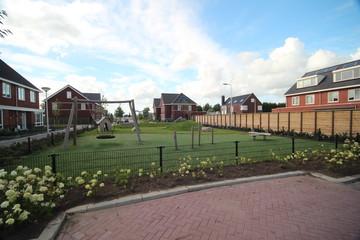 Playgrounds on new residential districts build in Zuidplas named Zevenrozenhof in Zevenhuizen