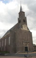 Reformed church of the Hervormde Gemeente in the bible belt village in Moerkapelle in the Netherlands
